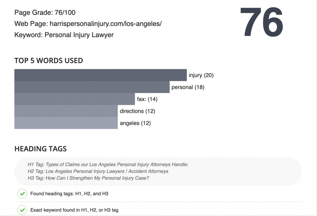 keyword density in seo for lawyers
